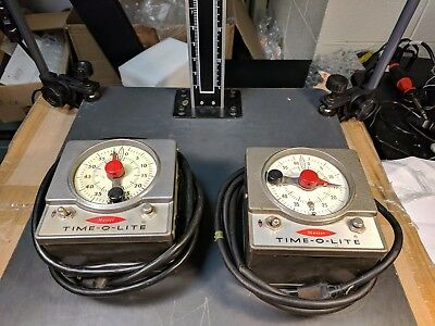 [Lot of 2] Master Time-O-Lite Darkroom Photographic Enlarger Timer Model M-59