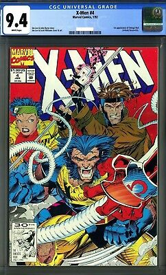 X-Men 4 (1992) CGC 9.4 White Pages 1st Appearance Of Omega Red