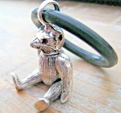 Desirable Birmingham Hallmarked Sterling Silver Muzzled Bear Baby Babies Rattle