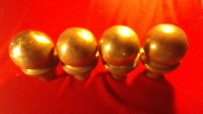 "4 Brass Cannonball Caps for 2"" Diameter Post Brass Bed"