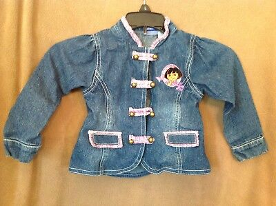 Girls denim Dora the Explorer jacket size 3T