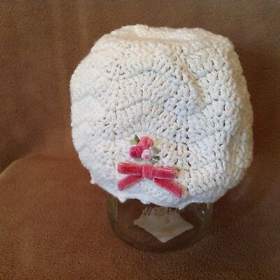 Gymboree baby girl crocheted spring hat size 12-18 mo.