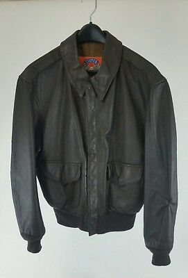 cooper type A-2 brown leather U.S. Air Force Flight bomber jacket - size 40R