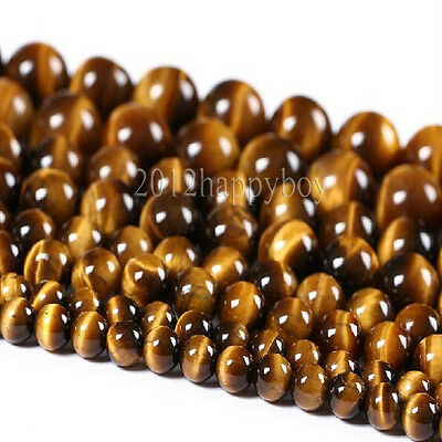 Lots Round Tiger Eye Beads Loose Beads Jewelry Making Supplies Crafts Decor