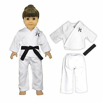 Doll Clothes 3-Piece Karate Outfit Fits American Girl & Other 18 Inch Dolls