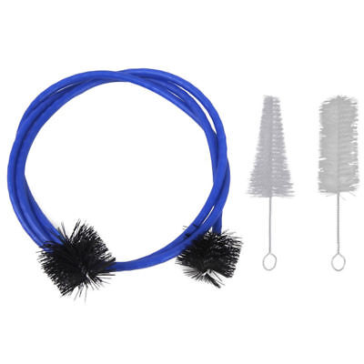 3 pcs Brass Accessories Set Of Trumpet Cleaning Kit Mouthpiece Brush Valve Blue