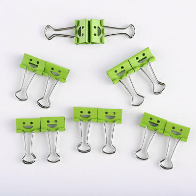 40Pcs 19mm Smile Metal Binder Clips For Home Office File Paper Organizer MZX
