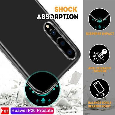 Crystal Clear Silicone Shockproof Full Cover Case for Huawei P20 Pro/Lite Shell