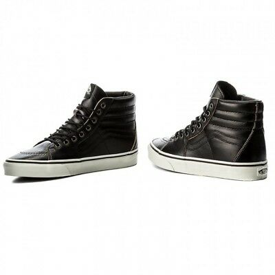 VANS SK8HI GROUNDBREAKERS VN0A38GEOE6 BK/MSHMLW 100% PELLE LEATHER BLACK