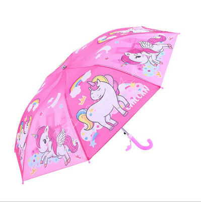 New Unicorn Automatic expansionHook Umbrella For Kids Gift