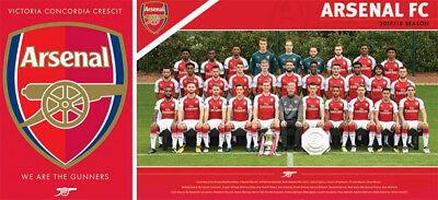 Arsenal F.C. Football Club Supporter Squad 35 & Crest 36 Posters