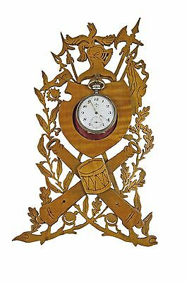 Antique Wall Hanging Reticulated Heraldic Pocket Watch Stand / Holder, Flemish.