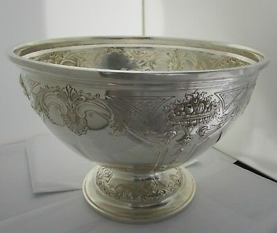 Redlich & Co. Large Sterling Centerpiece 18 Pint Punch Bowl C 1900