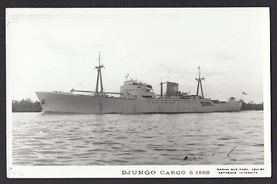 RP PC RPPC Real Photo Postcard Djungo Cargo 1968 Ship Boat Postkarte Navire