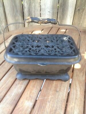 Vintage Antique Early Ornate Cast Iron Stage Coach Carriage Foot Warmer Heater
