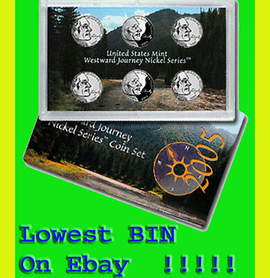 2005 Westward Journey Nickel 6 Coin Set Proof, Sms, Satin, Bison, Oiv P,d,s Coa