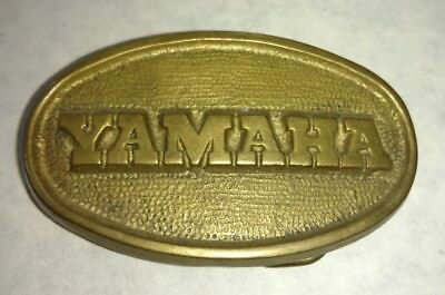 Vintage 1970's Yamaha Motorcycles Solid Brass Belt Buckle 4217 70's 70s