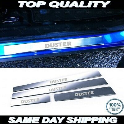 2010-2017 Chrome Door Sill Plate Cover Dacia DUSTER Stainless Steel 4pcs