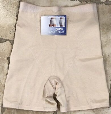 Lily of France Nude High Waist Triple Control Panty Girdle Size XL Underscene