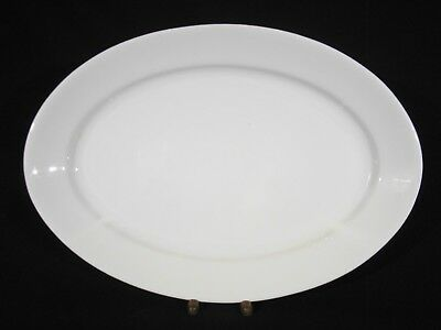 """Antique Alfred Meakin White Ironstone Oval Platter 17"""" c1897+"""