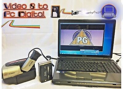 Video 8 Player Recorder Kit ~ Convert Video 8 / 8mm Tape to DVD, PC + CAMCORDER!
