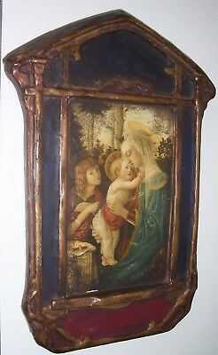 Antique Icon Madonna and Child Botticelli