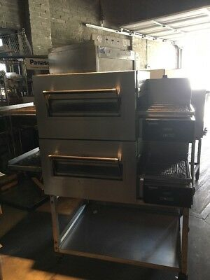 Lincoln Double Stack Convection Oven Used Digital Control Conveyor Pizza Oven