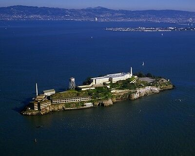 New 11x14 Photo: Aerial view of Alcatraz Island and Penitentiary, San Francisco