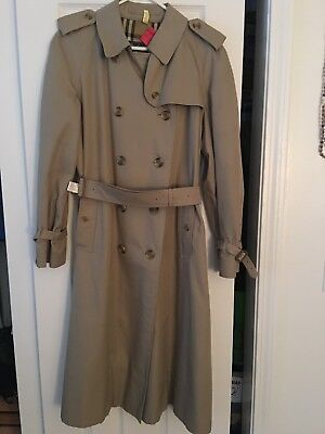 6fe30448d88 BURBERRY CLASSIC TRENCH Coat Cotton Blend US Womens Size 18 Reg ...