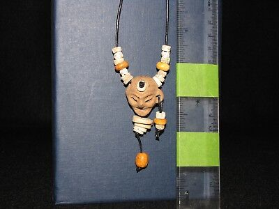 Pre Columbian, Pottery/Stone/Shell, Aztec Necklace, Late Post Clas 1200 1500 AD