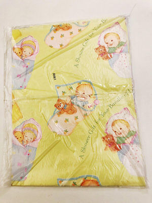 Vintage Baby Shower Gift Wrap New Baby Gift Wrap Single Sheet Wrapping Paper  sc 1 st  PicClick & VINTAGE BABY SHOWER Gift Wrap New Baby Gift Wrap Single Sheet ...