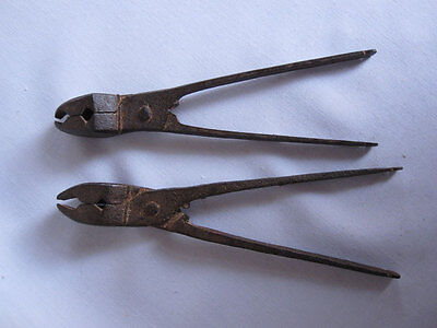 Pair of old or antique Hand Forged iron bullet maker original mughal style