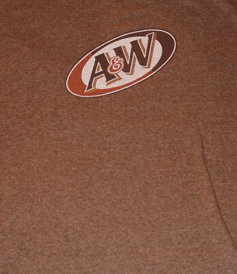 A & W Old Fashioned ROOT BEER A&W Logo Ringer Sleeves T Shirt