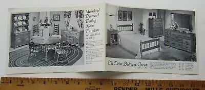 Sales Brochure  Catalog For The Dover Bedroom Group 1950's/60's