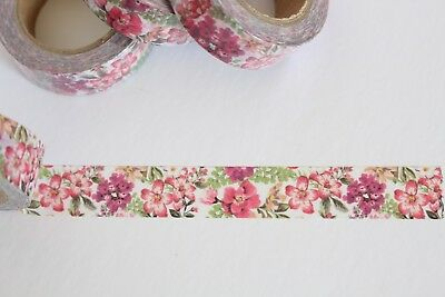 Floral washi tape, Flower print washi tape, Cute Washi Tape, Planner accessories