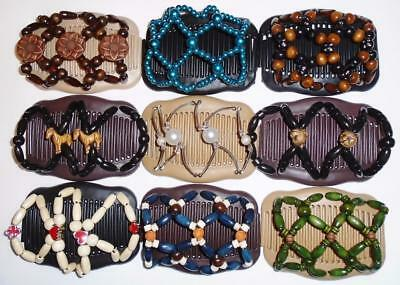"Double Hair Combs, Angel Wings Clips, 4X3.5"", African Butterfly, Quality S60"