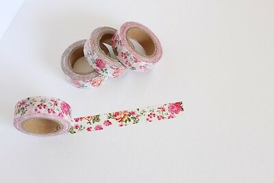 Pink floral washi tape, Floral washi tape, Cute Washi Tape, Planner accessories