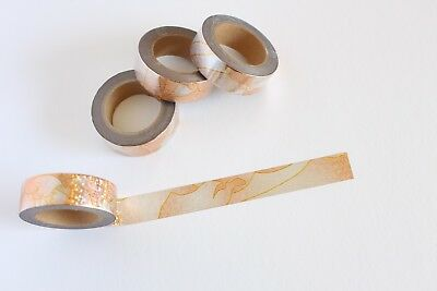 Golden bronze washi tape, Shades of Gold, Cute Washi Tape, Planner accessories