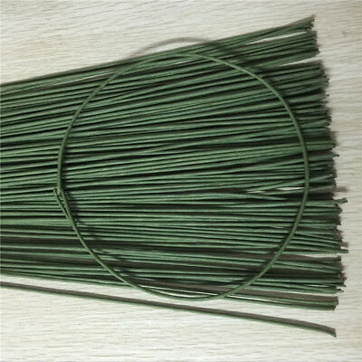 20-100Pcs 60cm Stub Stems Paper Covered Wire Iron For DIY Decor Flower Making
