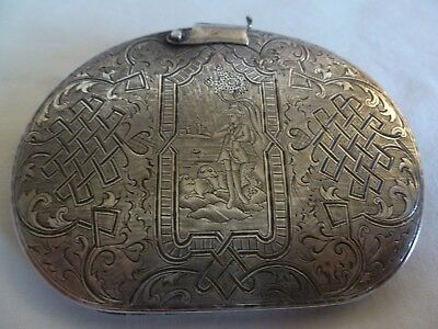 Dated 1849 Antique Russian 84 Silver Hand Engraved Compact--Sold A/f !!!!!!!!!!!