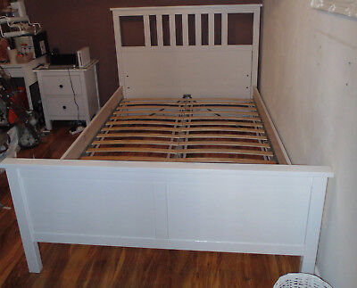 IKEA HEMNES STANDARD Double Size Bed Frame - £101.87 | PicClick UK