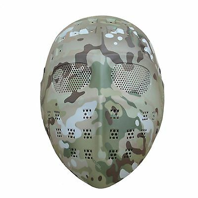 NEW Full Face Hockey Type Paintball Airsoft Mesh Goggle Mask Multicam Camo LP115