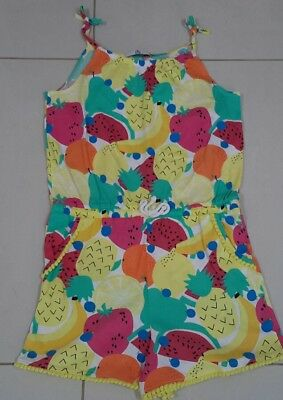 M&s Girls Coloured Fruit Print Summer Shortsuit Age 11/13 Years