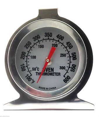 Stainless Steel Oven Thermometer / Temperature Gauge For Pizza Ovens