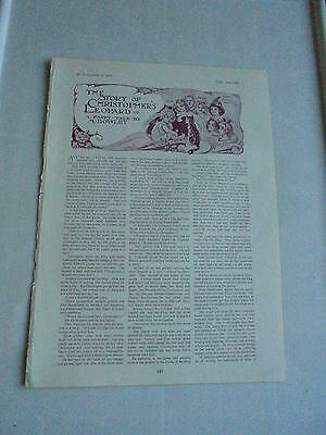 1902 The Tatler Magazine M Bowley Story Of Christophers Leopard Fairy Tale