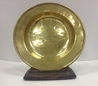 Rare 18Th Century Brass Plate / Dish