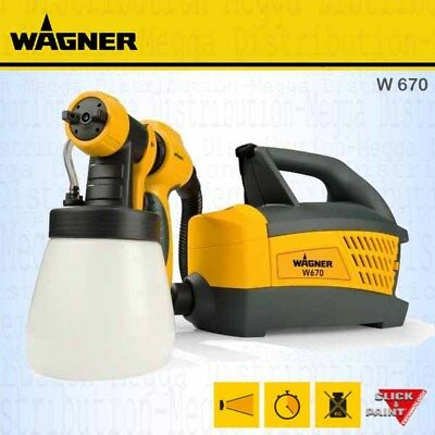 Wagner W670 HVLP Fine Paint Sprayer System for Wood/Metal inc Handle + Container