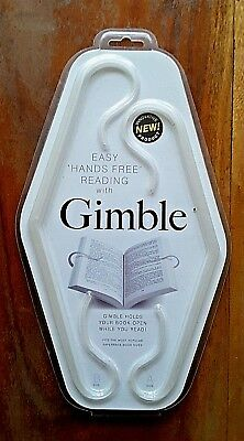 Reading Aid Hands Free Adjustable Book Holder Gimble Easy Use on Paperback Books
