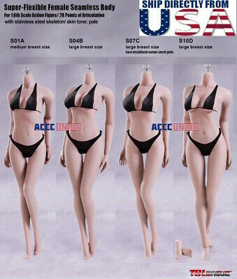 TBLeague PHICEN 1/6 Female SEAMLESS Body Stainless Steel Skeleton in PALE USA