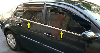 Ford Mondeo MK3 Saloon chrome window frame formed trim cover 2000-2007 S.Steel
